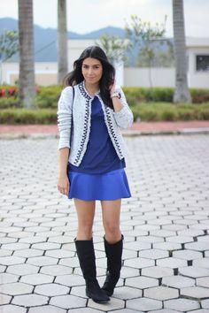 4c76039e3a look do dia saia e casaqueto bota moda fashion estilo borboletas na carteira -8 Botas