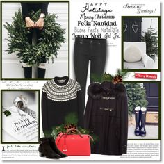 How To Wear Happy Holidays!! Outfit Idea 2017 - Fashion Trends Ready To Wear For Plus Size, Curvy Women Over 20, 30, 40, 50