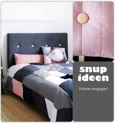 Polstret sengegavl   - stof2000.dk