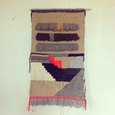 """First weaving made in our new studio. ☺"""