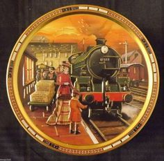 collectible tins   Collectible Tin Canister Trains Jacobsens Bakery Butter Cookies Train