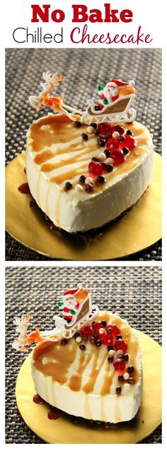 No bake chilled cheesecake – super easy chilled cheesecake made with cream cheese and whipping cream. Super creamy and sinfully delicious | rasamalaysia.com
