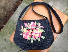 Crossbody bag/ Messenger bag/Canvas tote/shoulder bag/ Fabric purse/floral tote bag/Hobo Bags/ by beautifullbags on Etsy  #Embroidery #ribbons #Crossbodybag #Diaperbag #Messengerbag #Canvastote #shoulderbag #Fabricpurse #floraltotebag #HoboBags #Gift