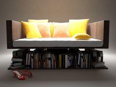 Ransa, le canapé livre en lévitation