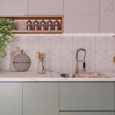 Rupert Corkery 34 beautiful kitchen tiles backsplash design ideas - 34 beautiful kitchen tiles backs Kitchen Room Design, Kitchen Cabinet Design, Modern Kitchen Design, Home Decor Kitchen, Interior Design Kitchen, Home Kitchens, Country Kitchen, Küchen Design, Layout Design