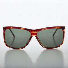 Square Block Oversized Unisex Vintage Glass Lens Sunglass NOS -TATE