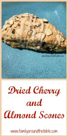 Dried cherry and almond scones are a delicious addition to a brunch table. Cherry Recipes, Almond Recipes, Savory Breakfast, Sweet Breakfast, Brunch Recipes, Breakfast Recipes, Scone Recipes, Sourdough Recipes, Breakfast Ideas