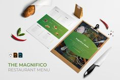 MagnificoResto | Restaurant Menu #food #menu #restaurant #vintage #cafe #template #illustration #brochure #label #design