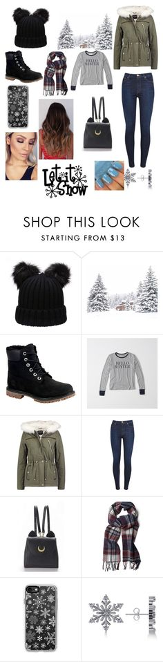 """""""Snowy winter"""" by emma-8bradley ❤ liked on Polyvore featuring Timberland, Abercrombie & Fitch, Dorothy Perkins, 7 For All Mankind, WithChic, GANT, Casetify and Allurez"""