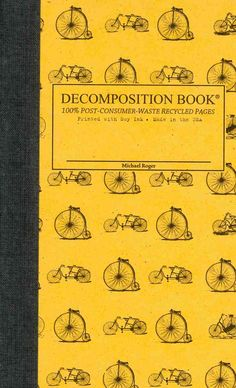 Vintage Bicycles Pocket-size Decomposition Book: College-ruled Composition Notebook With 100% Post-co...