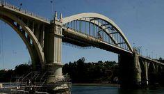 #andamios en El puente de O Pedrido en La Coruña