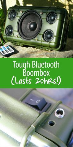 This rugged boombox does it all: charges USB devices, plays MP3s, and tunes in to FM radio stations. Provides 18 hours of nonstop music!