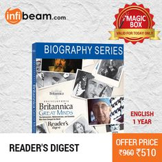 Reader's Digest 1 Year Subscription at Lowest Rate from Infibeam's MagicBox !  Assuring Lowest Price in Magic Box Deals !   HURRY OFFER VALID FOR TODAY ONLY !!  #MagicBox #Deals #DealOfTheDay #Offer #Discount #LowestRates Reader's Digest #1Year #Subscription
