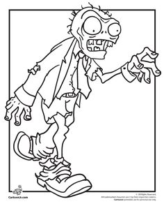 Plants vs zombies colouring-in pages