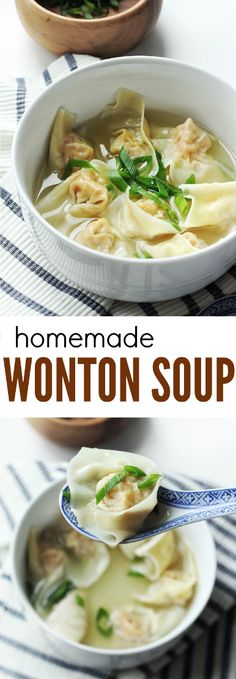 A simple, light, and delicious Chinese comfort food! This pork and shrimp filled Wonton Soup is easy to make yet so satisfying! The pork and shrimp wontons paired with the subtle yet fragrant chicken broth are the definition of yummy!