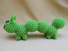 Amigurumi Caterpillar : Critter collection uncommon pets crochet amigurumi pattern crochet