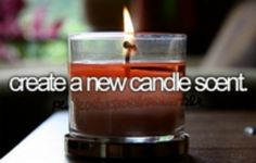 create a new candle scent.