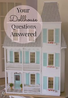 A series for beginning dollhouse enthusiasts. I've asked everyone to email me their questions and I'll do my best to answer them.