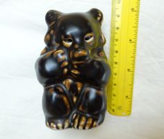 Item: Vintage Royal Copenhagen Knud Kyhn, Brown Bear / bear cub, sitting. A fantastic piece of Stone-wear form Denmark. Condition:  Excellent, no