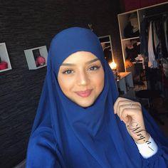 💙💙💙 Turban Hijab, Hijab Niqab, Hijab Outfit, Beautiful Muslim Women, Beautiful Hijab, Islamic Fashion, Muslim Fashion, Niqab Fashion, Muslim Beauty