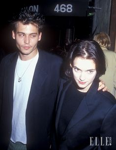 Johnny Depp and Winona Ryder Johnny Depp Winona Ryder, Young Johnny Depp, Winona Forever, The Love Club, Beautiful Love, Leonardo Dicaprio, Aesthetic Pictures, Pretty People, Cute Couples