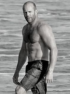 Buzz cut with wet trunks is uber cool! Jason Stathan is hot hot hot - http://rosie2010.hubpages.com/hub/Hairstyles-for-Men-with-Balding-Hair-Style-Cuts-Trends