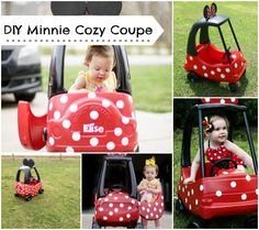 DIY Minnie Mouse Car ~ I want a full-size version for ME!  This is about the cutest thing I've ever seen!!!