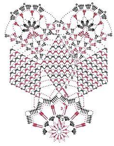Scheme for crochet round napkin Crochet Diagram, Filet Crochet, Crochet Motif, Crochet Doilies, Knit Crochet, Crochet Patterns, Crochet Doll Clothes, Crochet Tablecloth, Crochet Books