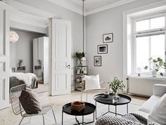 a monochromist: Home Tour | Swedish Simplicity