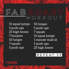 February work out
