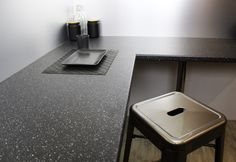 New Noir Essence Worktop x x Kitchen worktop in a Noir Essence matte finish Product Details Size: x Thickness: Laminate Kitchen Worktops, Kitchen Corner, Online Coloring, Splashback, Work Surface, Work Tops, Black Kitchens, Flooring
