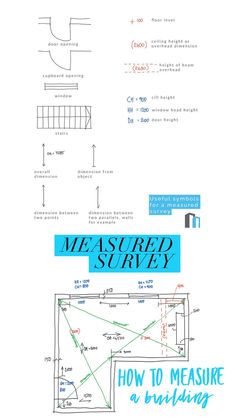 to do a measured survey Our guide showing you how to measure a buildingOur guide showing you how to measure a building Architecture Concept Diagram, Architecture Panel, Architecture Student, Architecture Details, Building Architecture, Architecture Supplies, Learn Autocad, Construction Drawings, Design Theory