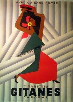 Buy online, view images and see past prices for Stunning Original Vintage Gitanes Poster Flamenco Dancer. Invaluable is the world's largest marketplace for art, antiques, and collectibles. Vintage Advertising Posters, Vintage Travel Posters, Vintage Advertisements, Pub Vintage, Vintage Labels, Retro Poster, Poster Ads, Vintage Cigarette Ads, Retro Vintage