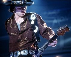 Stevie Ray. I love the pack of kools in the pocket.
