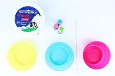 Easy Art Activity: Yogurt Spin Art Tops