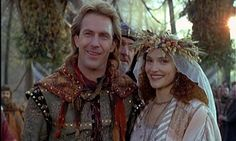 Medieval Robin Hood and Maid Marian (Robin Hood: Prince of Thieves) Beau Film, Wedding Movies, Wedding Scene, Dream Wedding, Maid Marian, Dances With Wolves, Fantasy Movies, High Fantasy, Kevin Costner