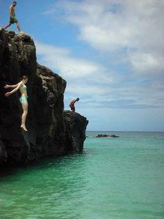 Jump Rock at Waimea Bay ~ North Shore, Oahu