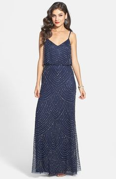 Adrianna Papell Sequin Gown available at #Nordstrom