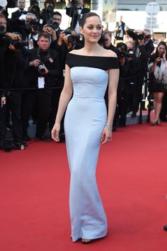 Marion dazzled at the Little Prince premiere in a cutout gown and a bracelet she designed with Chopard.