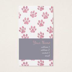 pink girly pet paw prints pattern