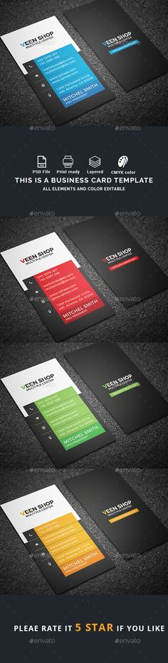 Business Card - Business Cards Print Templates Download here : https://graphicriver.net/item/business-card/19502947?s_rank=141&ref=Al-fatih