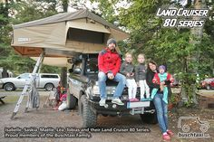 Tobias and Family and their Land Cruiser HDJ80. Proud members of the Buschtaxi Family.  #buschtaxi #landcruiser #80series #j8 #hdj80 #toyota