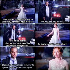 April Kepner and Jackson Avery- Grey's Anatomy. Love this scene