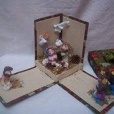 Presépio de Natal no Elo7   Puro Biscuit (EF483) Nativity Crafts, Christmas Nativity, Christmas Crafts, Christmas Decorations, Xmas, Clay Crafts, Diy And Crafts, Polymer Clay Christmas, Holy Night