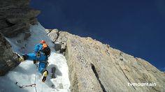 Mars 2015, alpinisme... Goulotte de glace Non Stop, Mont-Blanc du Tacul, Chamonix Mont-Blanc massif... 400 mètres de glace à 80 max... Merci à Luc Mongellaz et à Jules Berger... CiLAO partenaire de Luc et de Jules... Vidéo: http://www.tvmountain.com/video/alpinisme/10817-goulotte-non-stop-mont-blanc-du-tacul-chamonix-mont-blanc-alpinisme.html