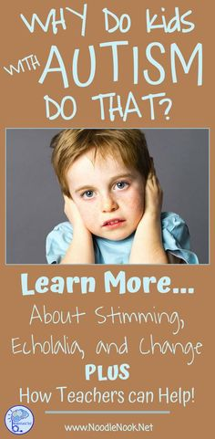 Why Do Kids with Autism Kids Do That? Plus Teacher Tips to Help! Autism Education, Adhd And Autism, Autism Parenting, Autism Classroom, Children With Autism, Special Education, Autistic Kids, Physical Education, Autism Books