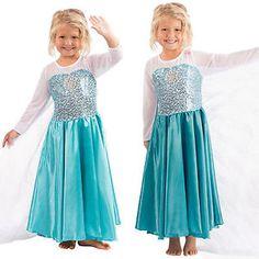 Girls Frozen Princess Queen Elsa Anna Dress Cosplay Costume Party Fancy Dress Up Princess Costumes, Girl Costumes, Cosplay Costumes, Elsa Kostüm Kind, Rapunzel Cosplay, Moana Cosplay, Diy Gifts For Grandma, Frozen Costume, Anna Dress