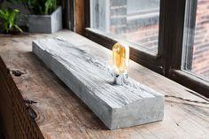 Mushroom Wood Concrete Table Light /Lamp/ light by INSEKDESIGN, $300.00