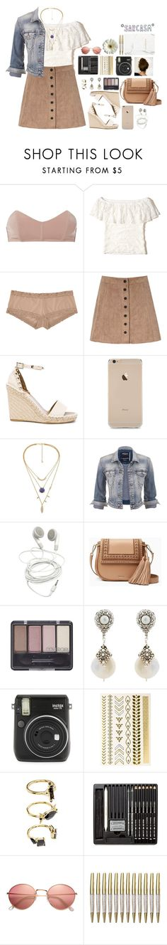 """""""EXPERIENCE"""" by fran-peeters ❤ liked on Polyvore featuring Fleur du Mal, Hollister Co., Natori, Glamorous, Valentino, maurices, Kate Spade, Miguel Ases, Fuji and Printed Village"""