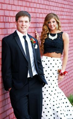 Prom Photo from the Year Prom was held in the local State Penitentiary Recreation Yard.....The red brick walls are a dead giveaway!